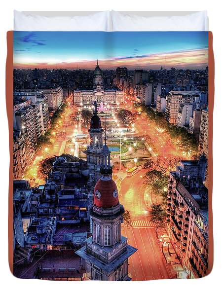 Argentina National Congress Duvet Cover by Bernardo Galmarini