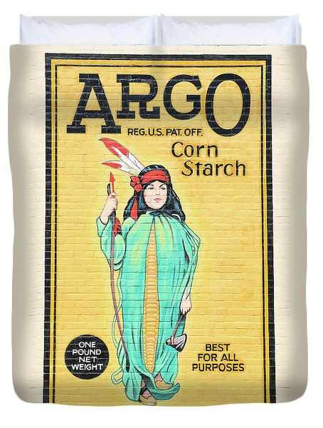 Argo Corn Starch Wall Advertising Duvet Cover