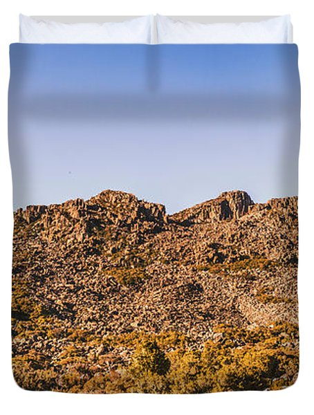 Arid Australian Panoramic Duvet Cover