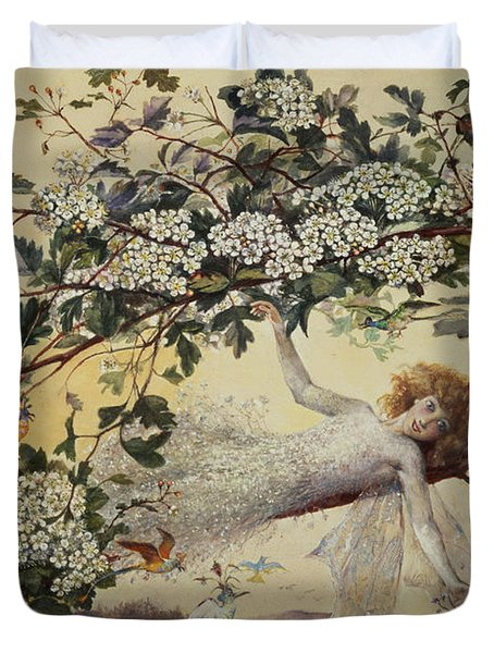 Ariel Duvet Cover by John Anster Fitzgerald
