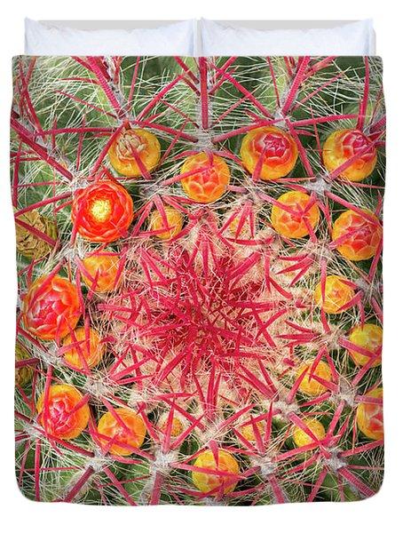 Arizona Barrel Cactus Duvet Cover