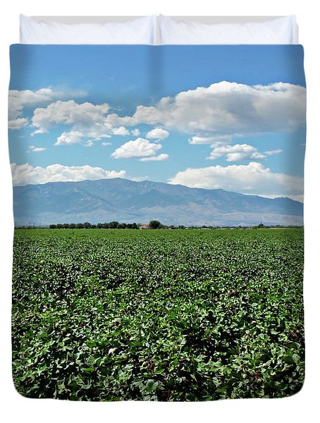 Arizona Cotton Field Duvet Cover