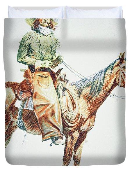 Arizona Cowboy, 1901 Duvet Cover