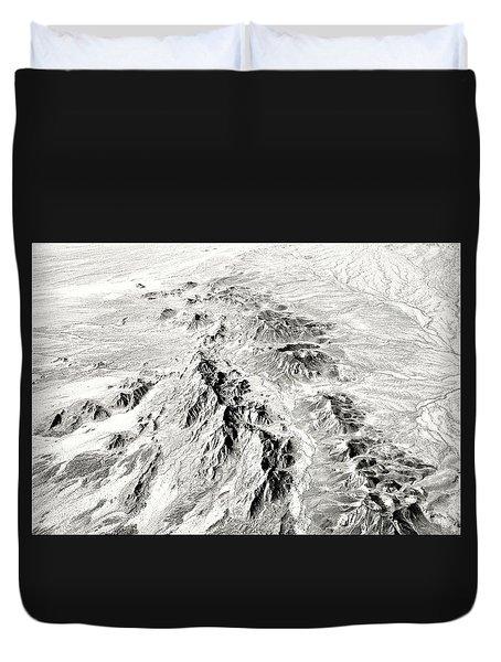 Arizona Desert In Black And White Duvet Cover