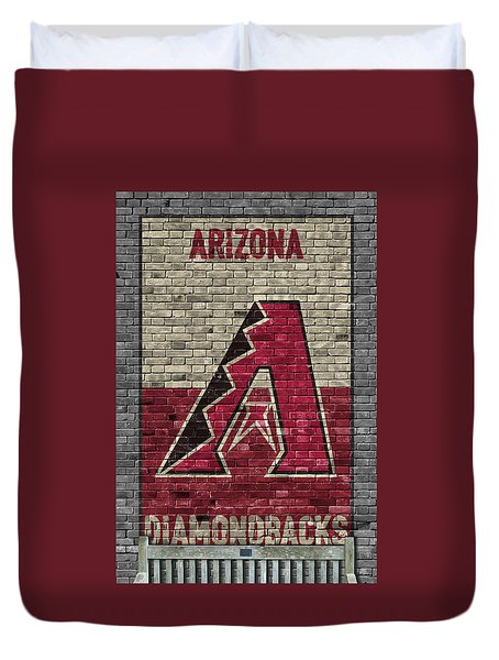 Arizona Diamondbacks Brick Wall Duvet Cover
