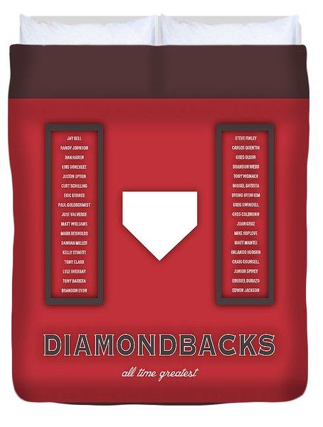Arizona Diamondbacks Art - Mlb Baseball Wall Print Duvet Cover by Damon Gray