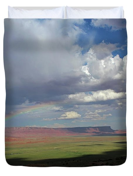 Arizona Double Rainbow Duvet Cover