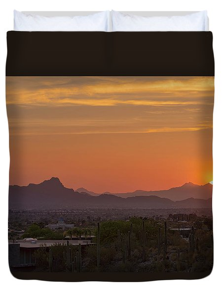 Arizona Has Sunsets Duvet Cover