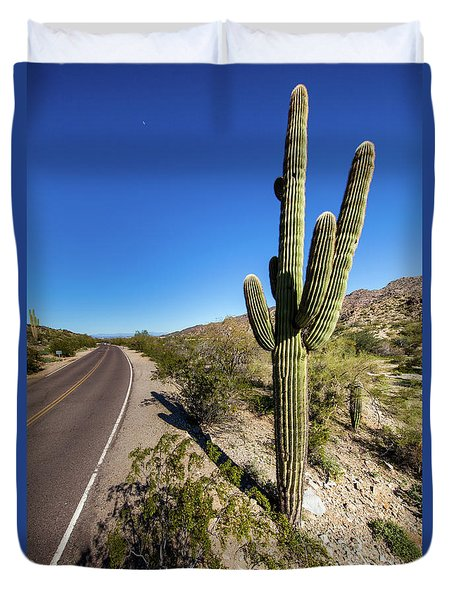Duvet Cover featuring the photograph Arizona Highway by Ed Cilley