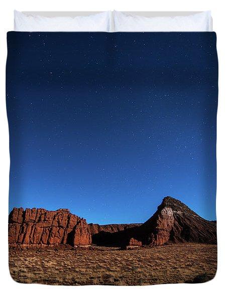 Arizona Landscape At Night Duvet Cover