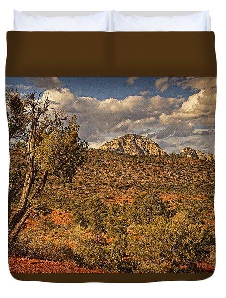 Arizona Landscape Text Duvet Cover