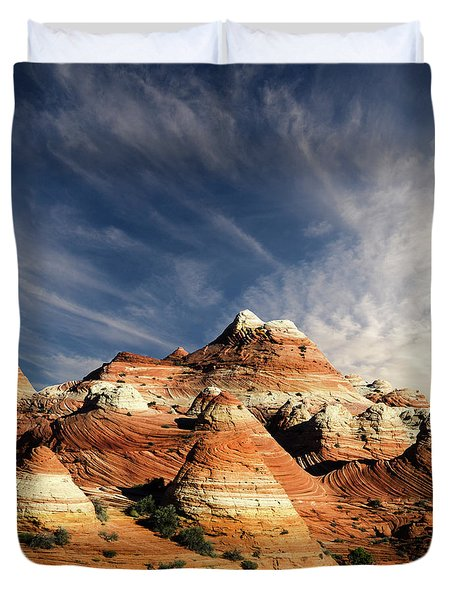 Arizona North Coyote Buttes Duvet Cover by Bob Christopher