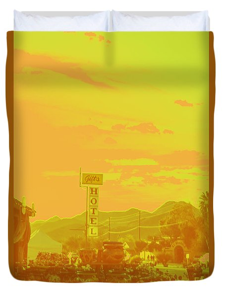 Duvet Cover featuring the photograph Arizona Road I by Carolina Liechtenstein