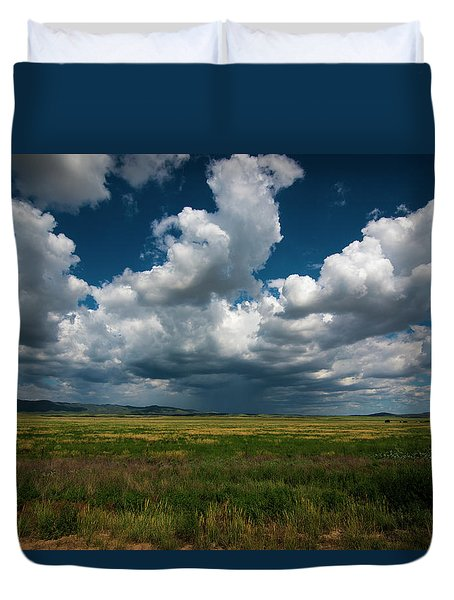 Duvet Cover featuring the photograph Arizona Storm 2139  by David Haskett