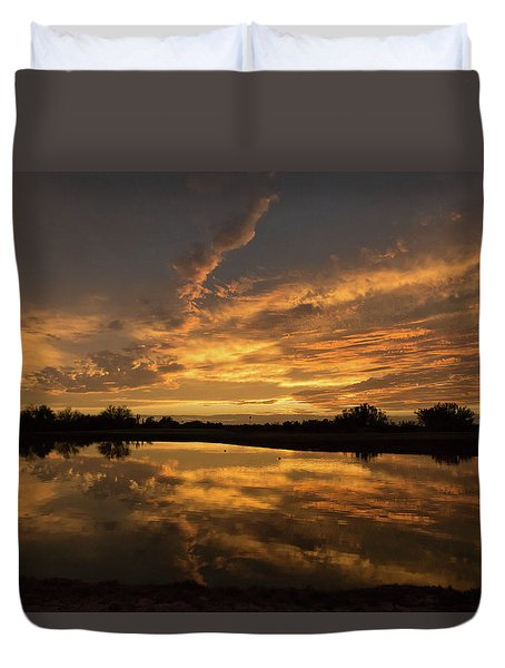 Arizona Sunset Duvet Cover by Martina Thompson