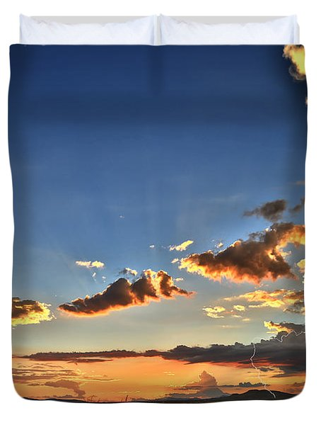 Arizona Sunset Storm Duvet Cover