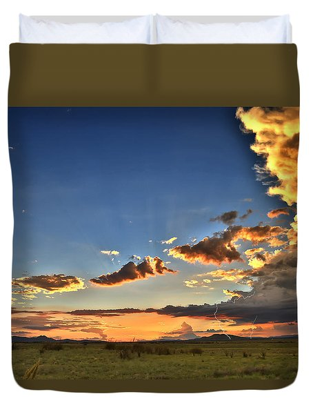 Arizona Sunset Storm Duvet Cover