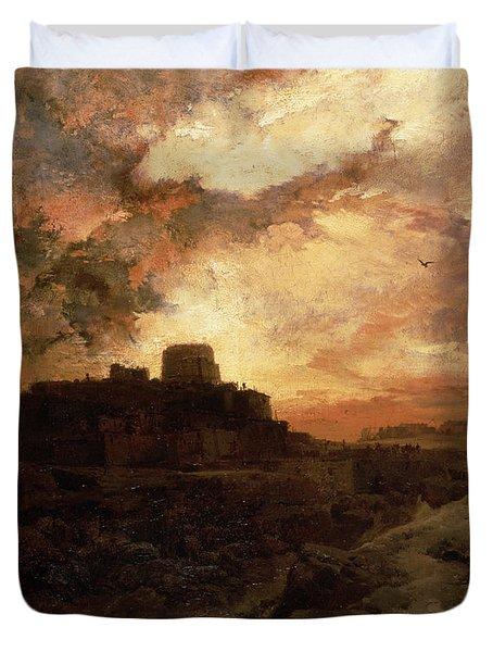 Arizona Sunset Duvet Cover by Thomas Moran