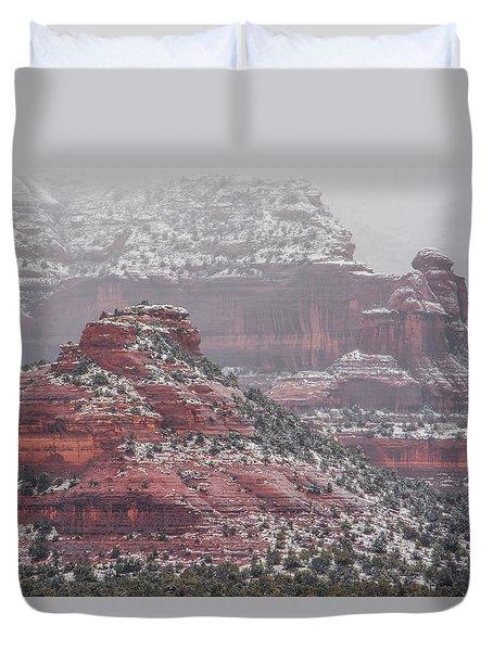 Arizona Winter Duvet Cover by Racheal Christian