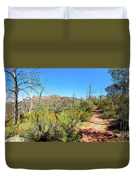 Duvet Cover featuring the photograph Arkaroo Rock Hiking Trail.wilpena Pound by Bill Robinson