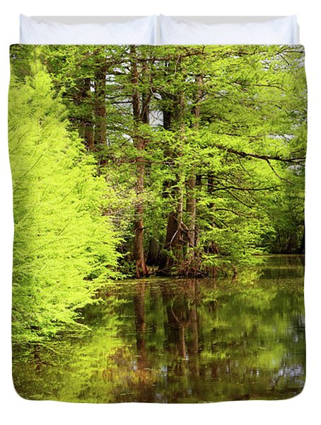 Duvet Cover featuring the photograph Arkansas Bottomlands by Nicholas Blackwell