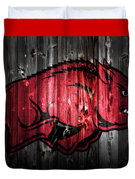 Arkansas Razorbacks 2a Duvet Cover