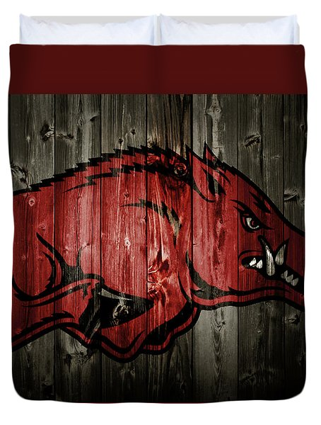 Arkansas Razorbacks 2b Duvet Cover