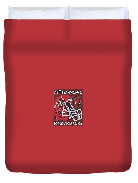Arkansas Razorbacks Duvet Cover