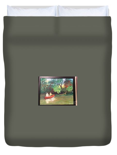 Arkansas River Float Duvet Cover