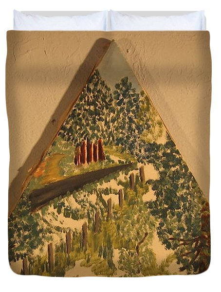 Duvet Cover featuring the painting Arkansas Road by Erika Chamberlin