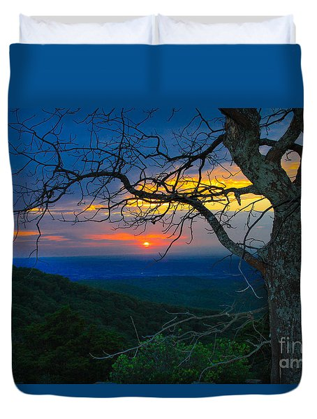 Arkansas Sunset Duvet Cover