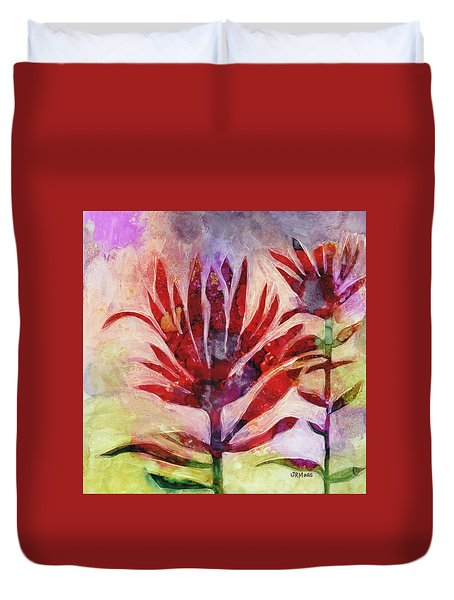 Arkansas Valley Indian Paintbrush Duvet Cover