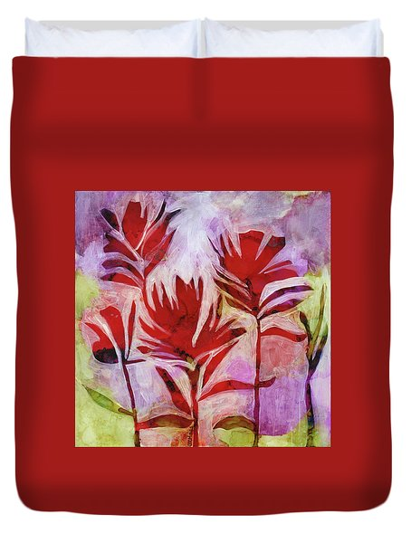 Arkansas Valley Paintbrush Duvet Cover