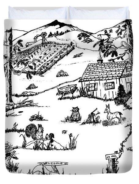 Arlenne's Idyllic Farm Duvet Cover by Daniel Hagerman