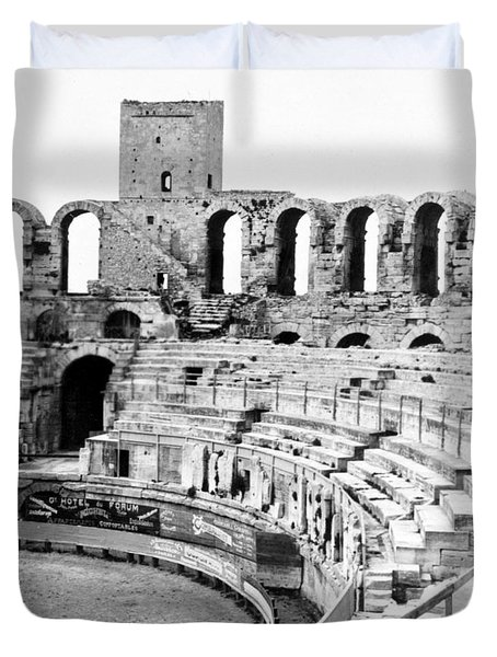 Arles Amphitheater A Roman Arena In Arles - France - C 1929 Duvet Cover by International  Images