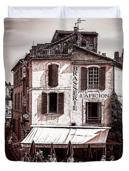 Arles, France, In Sepia Duvet Cover
