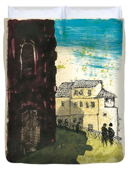 Duvet Cover featuring the painting Arles Near Arena Provence by Martin Stankewitz