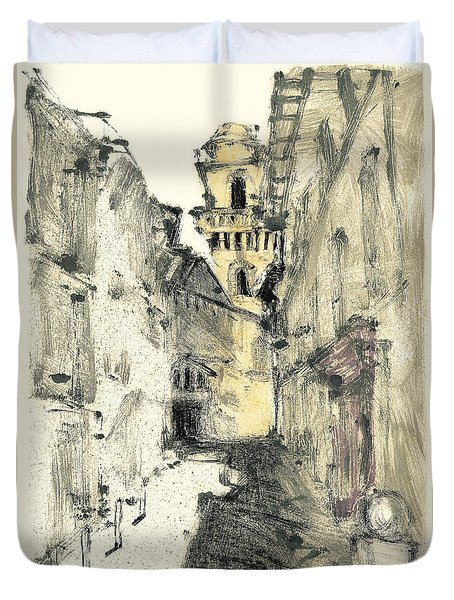 Duvet Cover featuring the painting Arles Provence by Martin Stankewitz