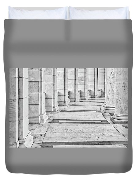 Duvet Cover featuring the photograph Arlington Amphitheater Arches And Columns II by Susan Candelario