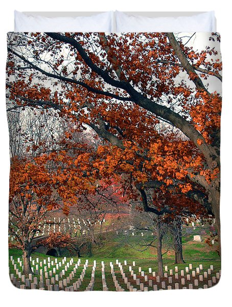 Arlington Cemetery In Fall Duvet Cover