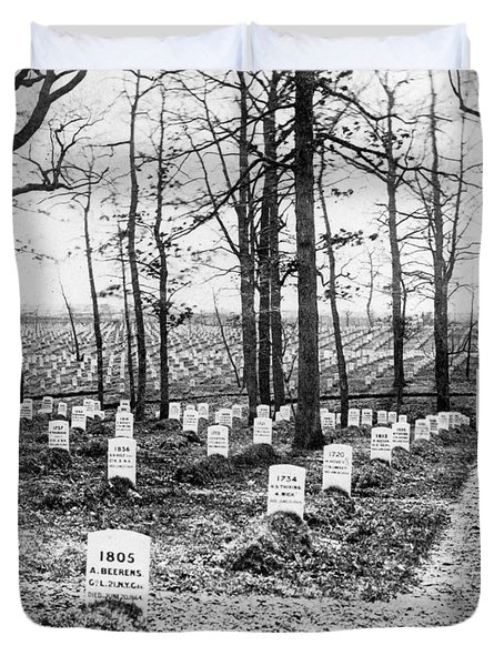 Arlington National Cemetery - C 1867 Duvet Cover by International  Images