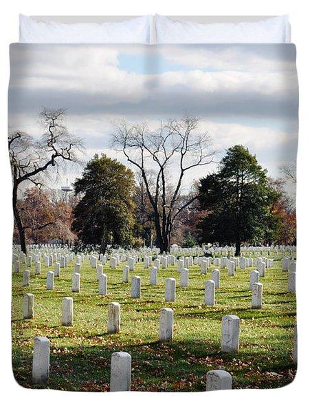 Arlington National Cemetery Landscape Duvet Cover