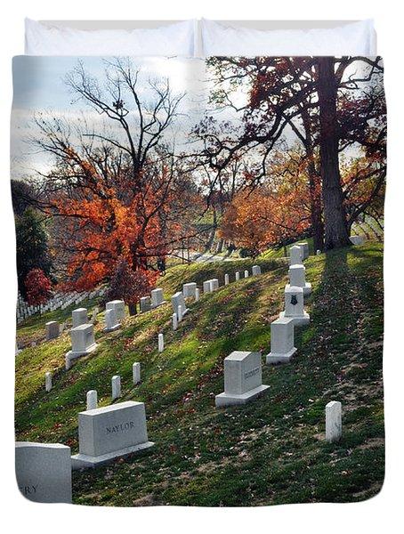 Arlington National Cemetery Portrait Duvet Cover