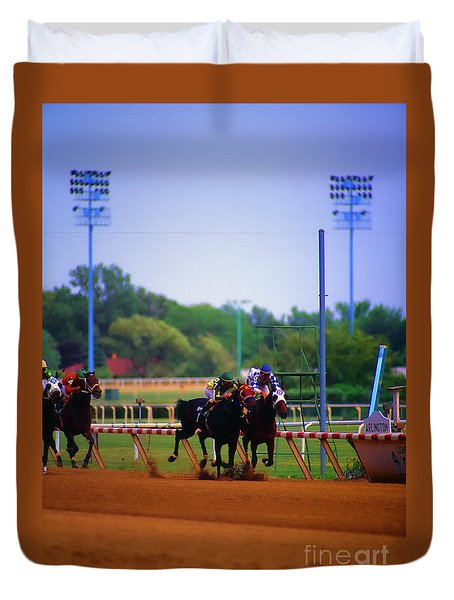 Arlington Park Finish Line Duvet Cover