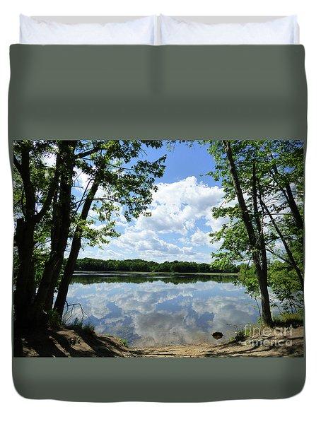Arlington Reservoir Duvet Cover