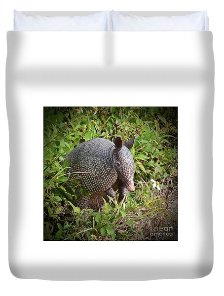 Armadillo And Flower Duvet Cover