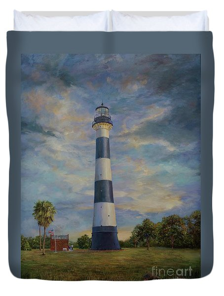 Armadillo And Lighthouse Duvet Cover