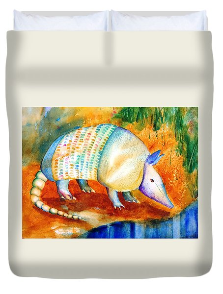 Armadillo Reflections Duvet Cover by Carlin Blahnik