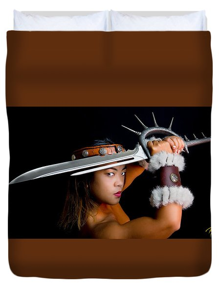 Armed And Dangerous Duvet Cover by Rikk Flohr