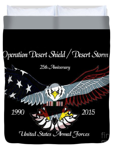Armed Forces Desert Storm Duvet Cover by Bill Richards